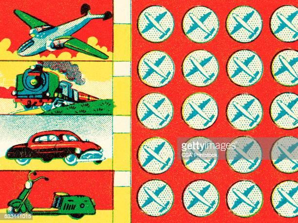 transportation pattern - moped stock illustrations, clip art, cartoons, & icons