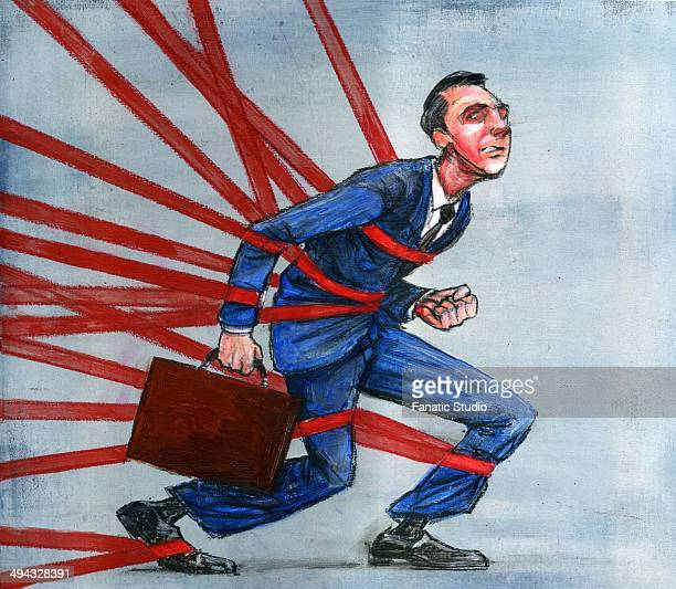 Tied Up In Red Tape Stock Illustrations And Cartoons ...