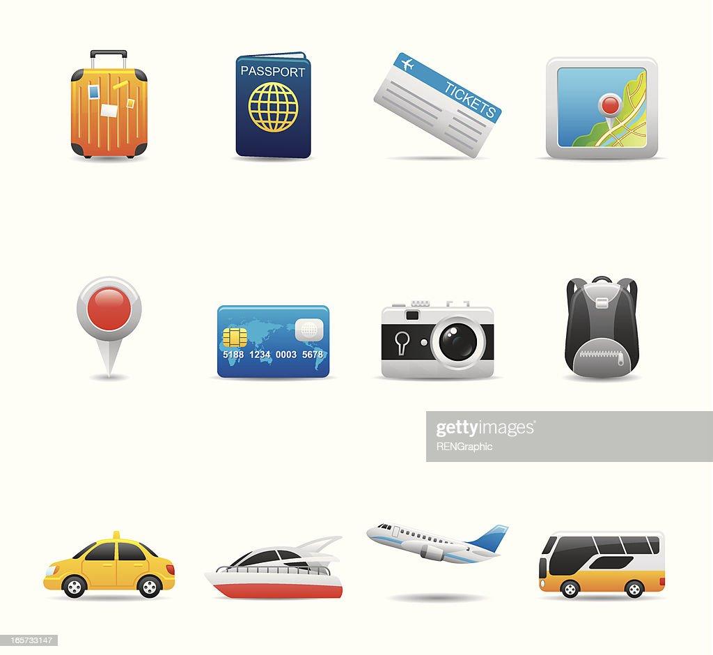 Travel Icon Set | Elegant Series