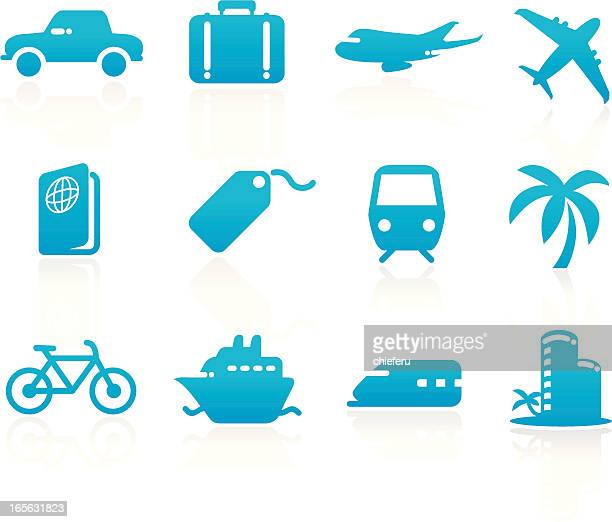 travel icons - luggage tag stock illustrations, clip art, cartoons, & icons