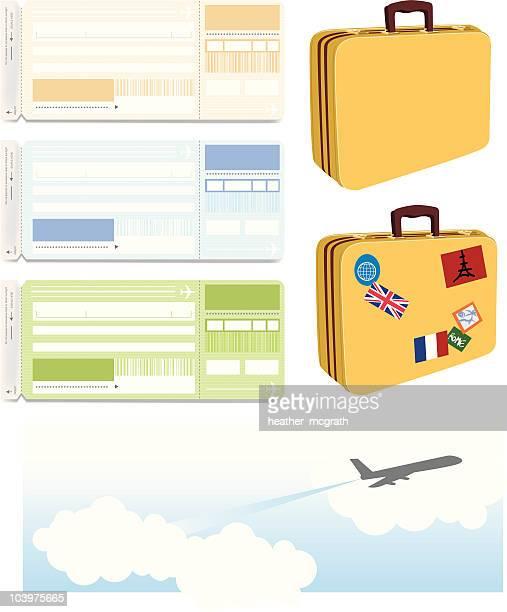 travel items - boarding pass stock illustrations, clip art, cartoons, & icons