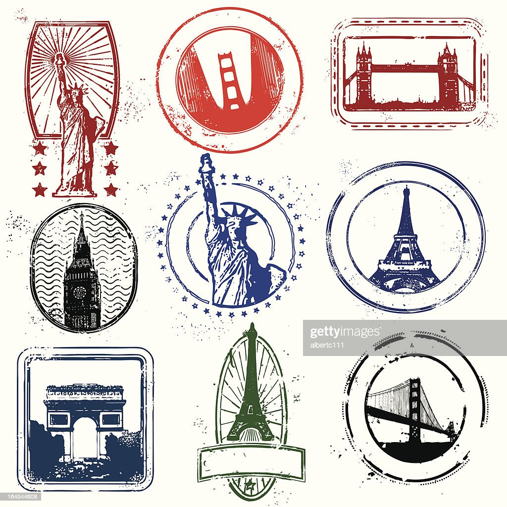 Traveling stamps of the west