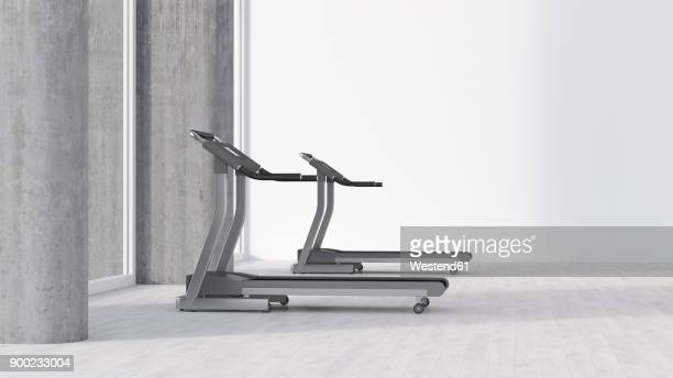 Treadmills in empty room