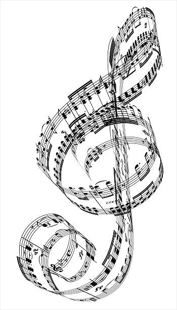A Treble Clef Made From Beethoven's Piano Music Wall Art