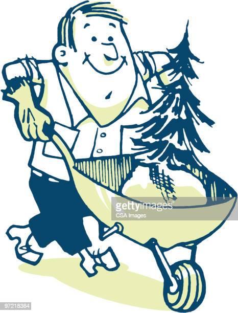 tree doctor - gardening glove stock illustrations, clip art, cartoons, & icons
