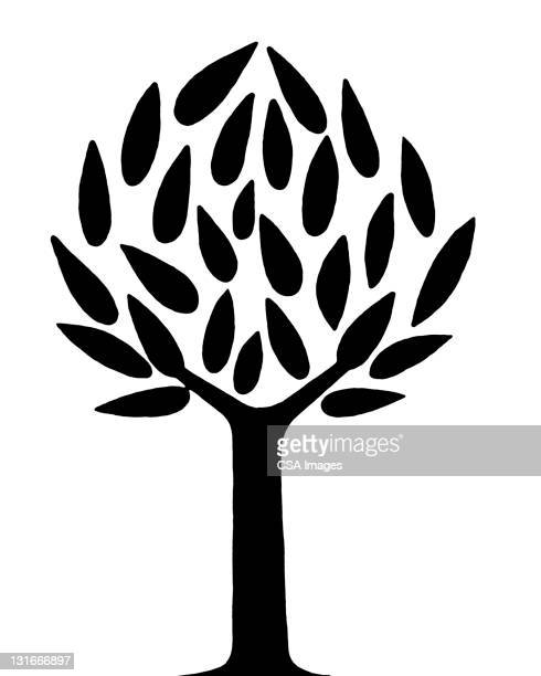 tree - logo stock illustrations