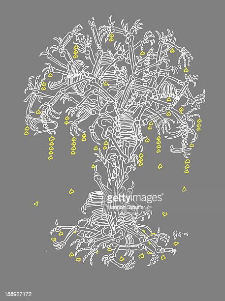 A tree made of bones