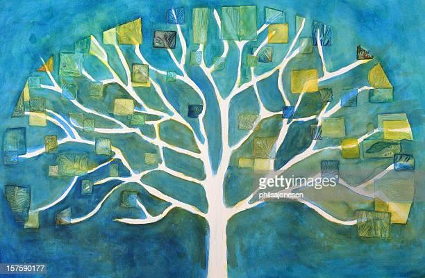 illustrazioni stock, clip art, cartoni animati e icone di tendenza di pittura ad albero - pittura accademica