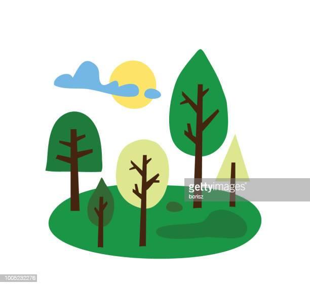 trees - grove stock illustrations, clip art, cartoons, & icons