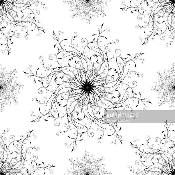 a trendy fashion scroll seamless pattern with curls and leafs, romania - {{relatedsearchurl('county fair')}} stock illustrations, clip art, cartoons, & icons