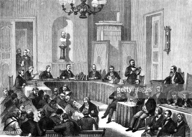 Trial in a courtroom in Berlin