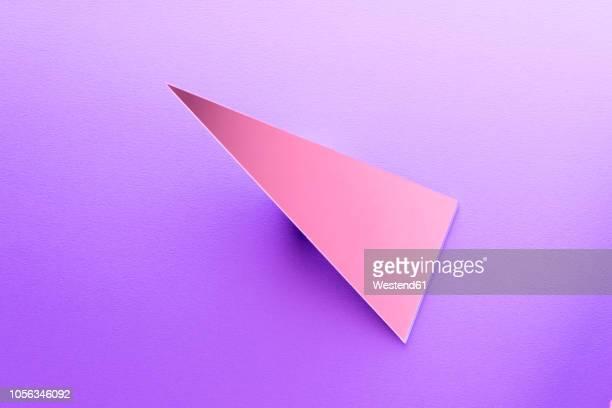 triangle shaped mirror on purple ground, 3d rendering - purple stock illustrations