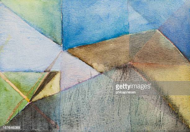 Triangles Abstract Painting