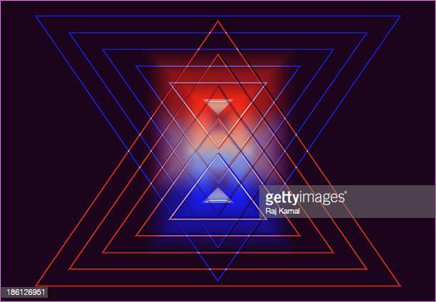 triangular creative shapes design. - triangle shape stock illustrations