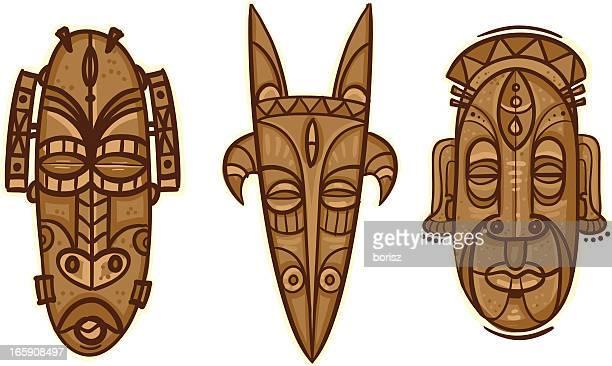 illustrations, cliparts, dessins animés et icônes de masque tribal s - masque africain