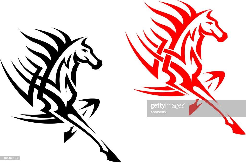 Tribal mustang stallion