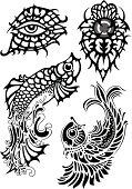 Tribal tattoo with soft swirls 2
