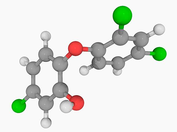 Triclosan Molecule Wall Art