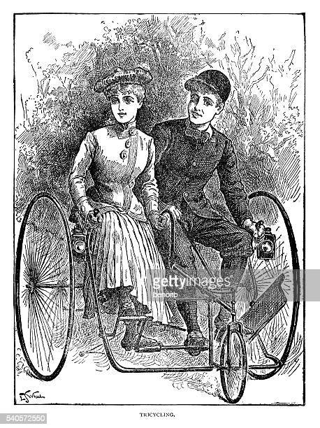 Tricycling Couple