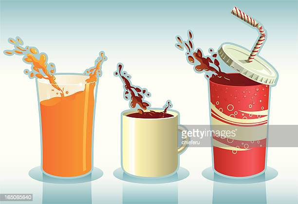 triple slpash - juice drink stock illustrations, clip art, cartoons, & icons