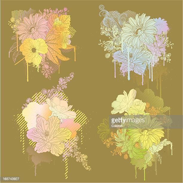 trippy drippy hippy (seasons) - buttercup stock illustrations, clip art, cartoons, & icons