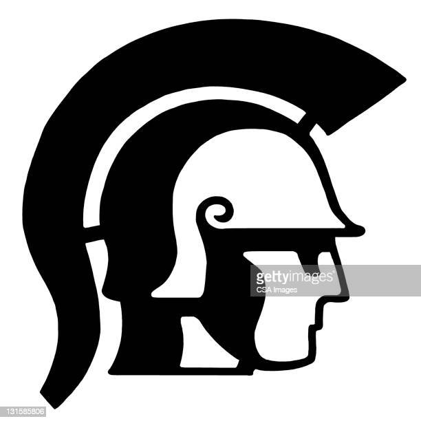trojan soldier - army soldier stock illustrations