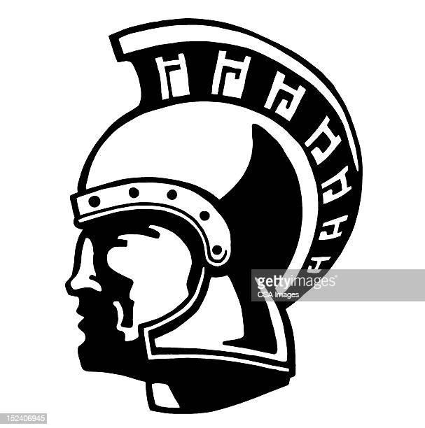 trojan warrior - trojan war stock illustrations, clip art, cartoons, & icons