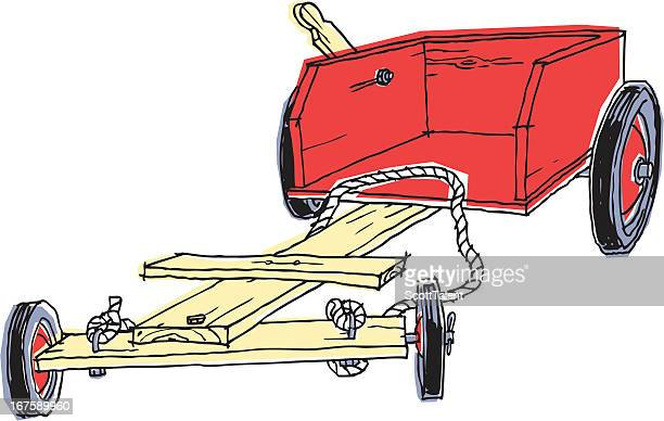 trolley racer - go carting stock illustrations, clip art, cartoons, & icons