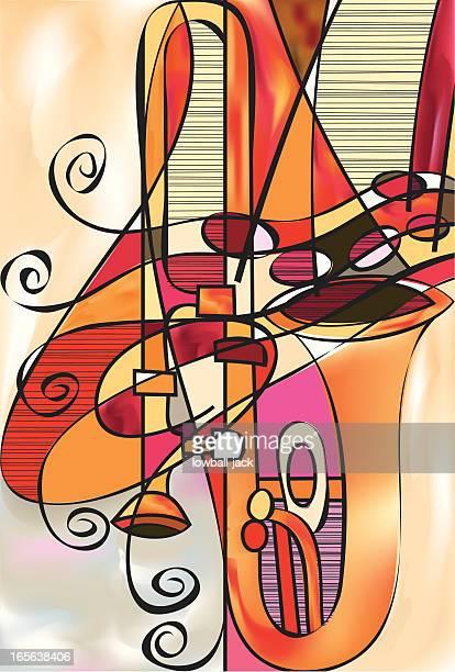 trombone conspiracy - jazz stock illustrations, clip art, cartoons, & icons
