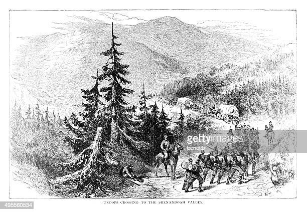 Troops crossing to the Shenandoah Valley