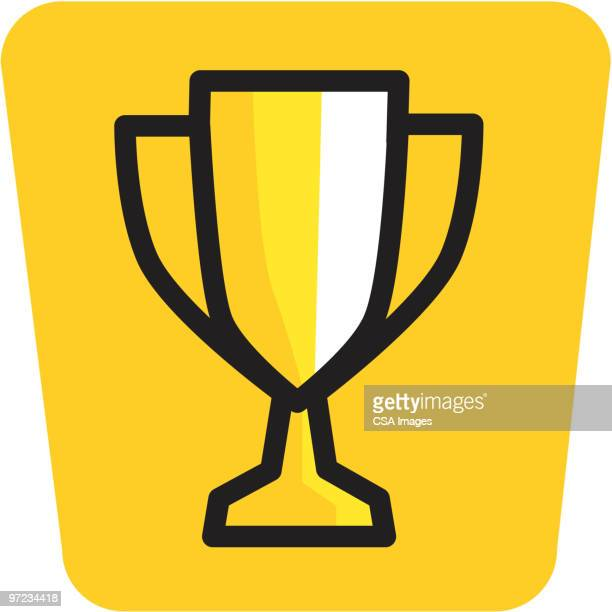 trophy - trophäe stock-grafiken, -clipart, -cartoons und -symbole