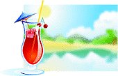 Tropical drink- cherry