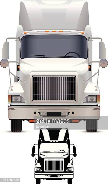 truck - front view stock illustrations