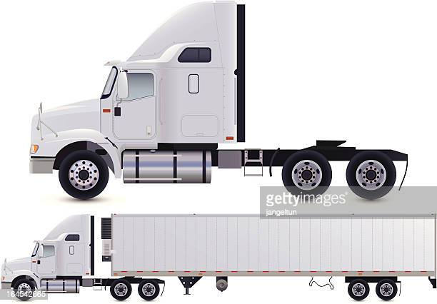 truck - side view stock illustrations