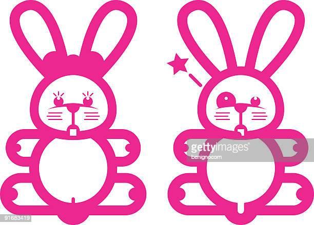 t-shirt rabbits - slapping stock illustrations, clip art, cartoons, & icons