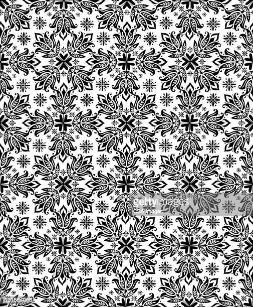 tulip pattern - floral pattern stock illustrations
