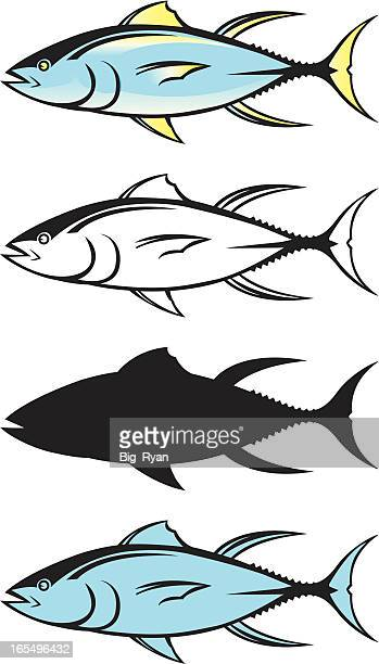 tuna graphics - acanthuridae stock illustrations, clip art, cartoons, & icons