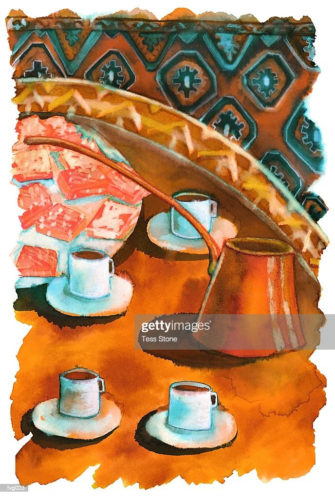 Turkish Coffee : Ilustración de stock