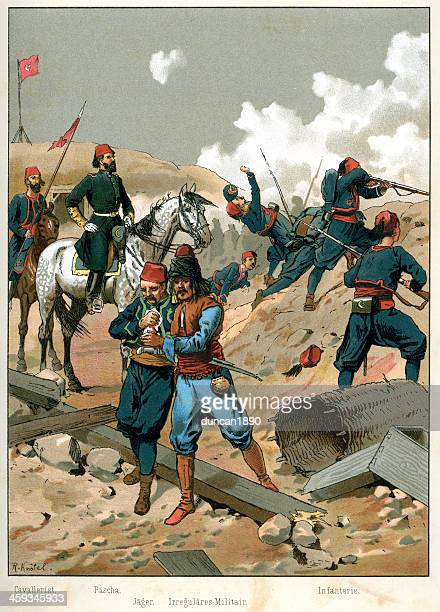 turkish ottoman military - ottoman empire stock illustrations