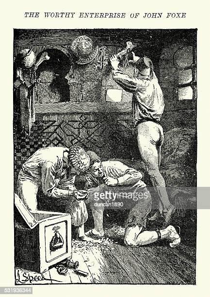 Turkish Pirates looting treasure, 16th Century