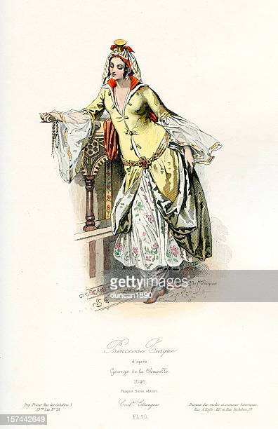 turkish princess - ottoman empire stock illustrations