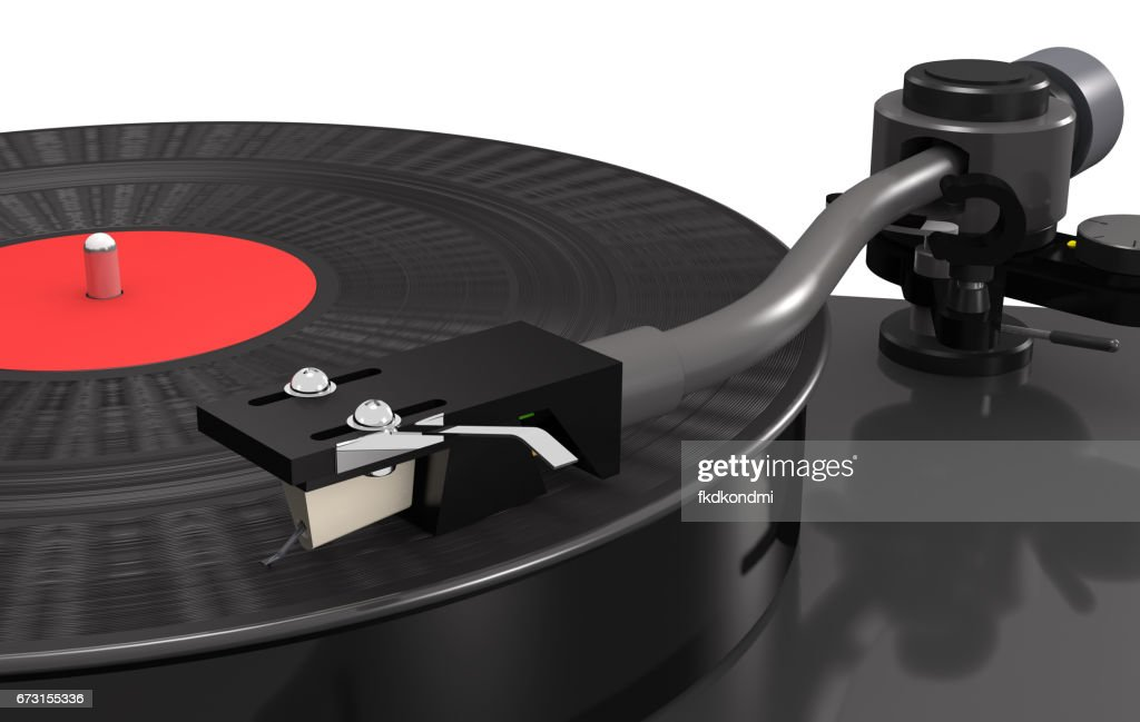 Plattenspieler Vinyl Schallplatte Makro Stock-Illustration | Getty ...