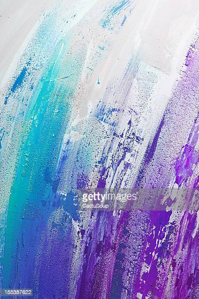 Turquoise and purple paint