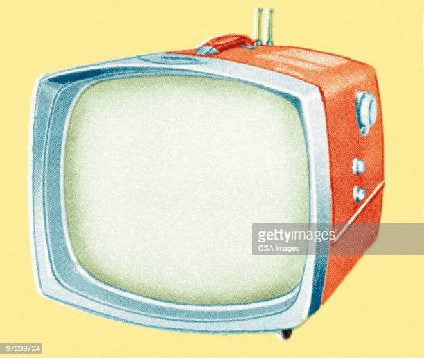 tv - old fashioned stock illustrations