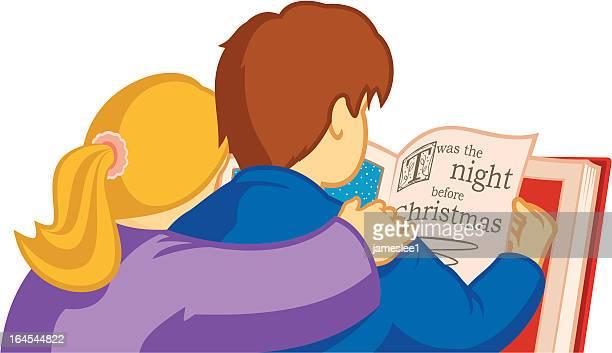illustrazioni stock, clip art, cartoni animati e icone di tendenza di twas la notte prima di natale. - abbracciare una persona