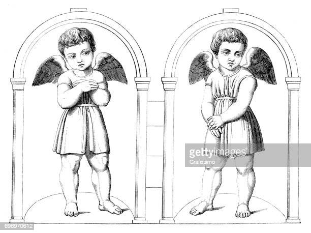 Deux anges de Raphael 16ème siècle