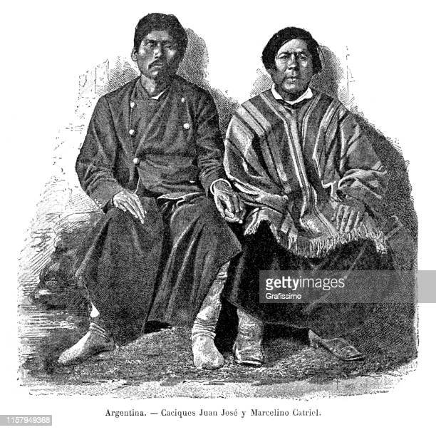 Two argentine tribe chiefs in Patagonia 1887