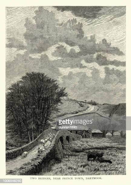Two Bridges, Dartmoor, Devon, 19th CenturyDevon, 19th Century