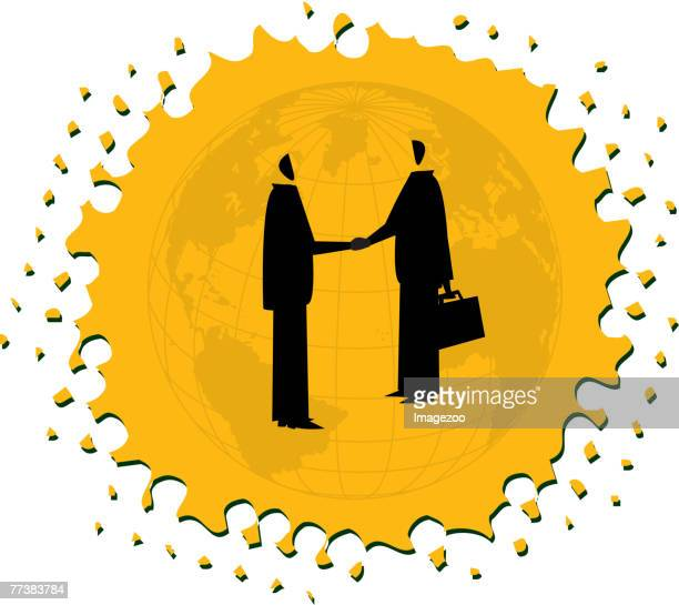 two businessmen shaking hands - legal document stock illustrations, clip art, cartoons, & icons