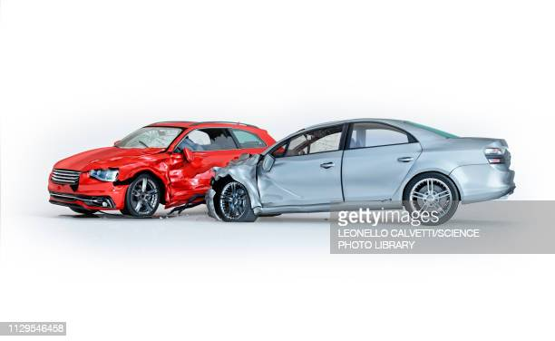 two cars crashed in accident, illustration - graphic car accidents stock illustrations
